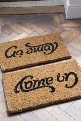 Image of the Reversible Come In / Go Away Doormat