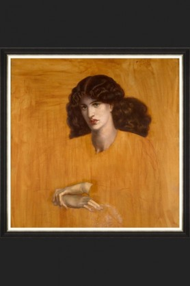 Image of the Framed Mind The Gap La Donna Della Finestra by Rossetti Art Print on a dark background