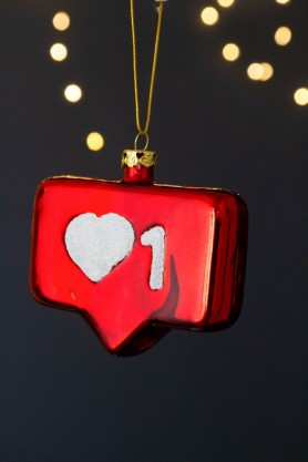 Image of the Instagram Style Love Heart Christmas Decoration