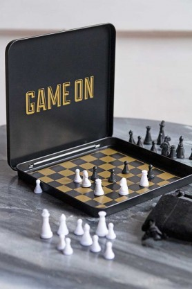Lifestyle image of the Magnetic Travel Chess Set