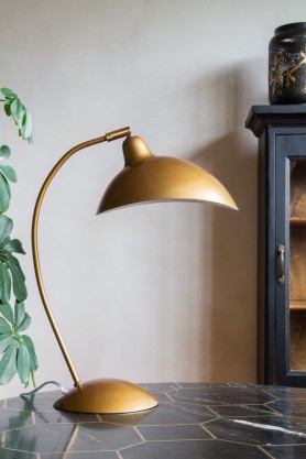 Image of the Manhattan Gold Metal Desk Lamp