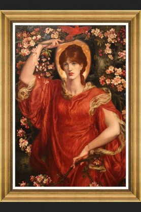 Image of the Framed Mind The Gap A Vision of Fiammetta By Rosetti Art Print on a dark background