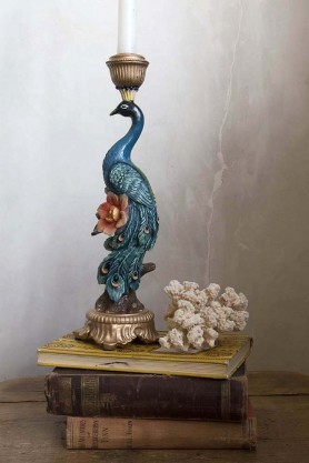 Lifestyle image of the Spectacular Peacock Candle Holder