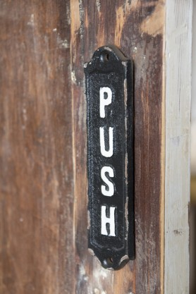 Image of the PUSH Metal Sign