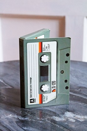 Image of the Recorded Message Retro Mixtape Greeting Card