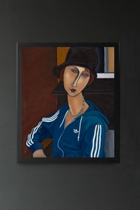 Image of the Ross Muir Limited Edition Modigliani Art Print in a black frame