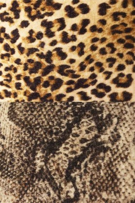 Close-up image of the Leopard Love and Sexy Snakeskin swatch samples