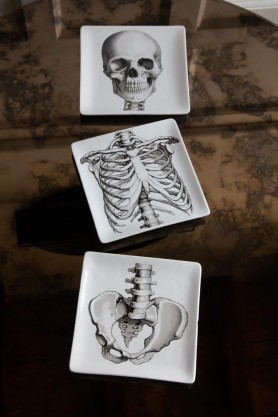 Image of the Set Of 3 Skeleton Trinket Trays disjointed