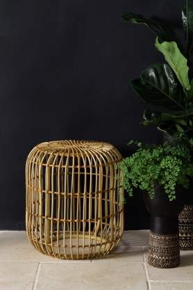 Lifestyle image of the Simply Stylish Wicker Stool/Side Table