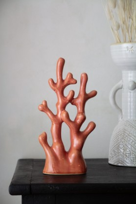 Lifestyle image of the Stoneware Coral Ornament