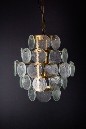 Image of the Seventies Inspired Glass Ceiling Light