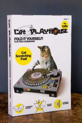 Image of the Turntable Cat Scratch Mat packaging