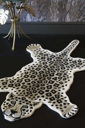 100% Wool Leopard Rug