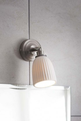 Alma Satin Wall Light