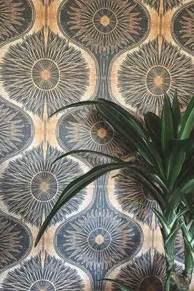 Anna Hayman Designs Gold & Black Bibana Wallpaper