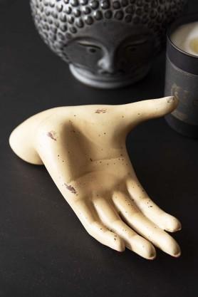 Antiqued Open Hand Jewellery Holder
