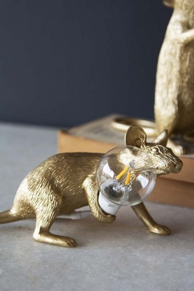 Aramis The Crouching Mouseketeer Lamp - Gold