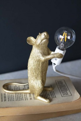 Athos The Standing Mouseketeer Lamp - Gold