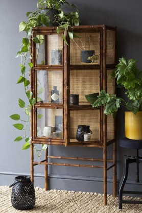 Bamboo Display Cabinet