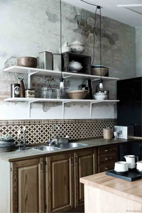 Beija Vinyl Splashback Roll - Sofi Antique