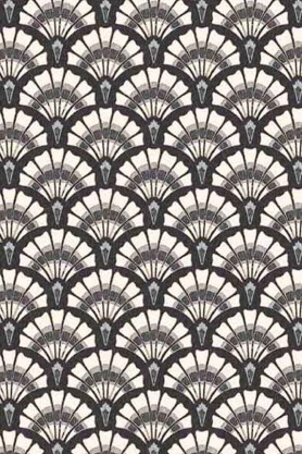 Swatch detail image of the Betsy Fan Ditsy Smoke Wallpaper by Pearl Lowe