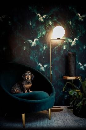 17 Patterns Beyond Nebulous Wallpaper - Green/Blue