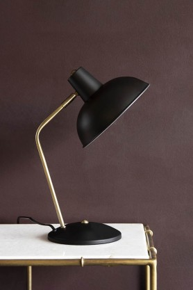 Lifestyle image of the Retro Desk Lamp - Matt Black