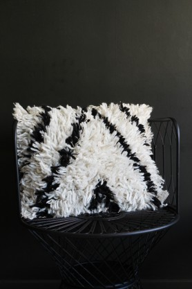 Black & White Wool Cushion