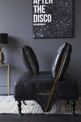 Black Leather Loveseat Sofa