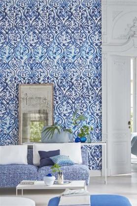 Designer Guild Majolica Collection - Arabesque Wallpaper - 2 Colours Available