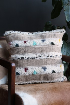 Boho Moroccan Handwoven Cushion