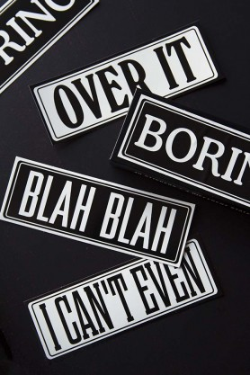 Boring Typography Stickers