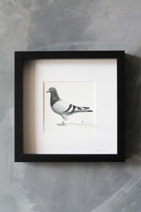 Pigeon Post Messenger - I Love You. Xxx Art Work By Brigitte Herrod