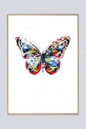 Unframed Tropical Butterfly Art Print