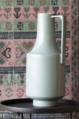 Ceramic Bottleneck Vase With Handle - Pale Green