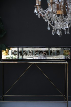 Vintage Style Champagne Mirror