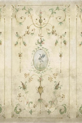 Close-up image of the Chinoiserie Panel Wallpaper Mural - Mirto Clow