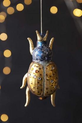 Bejazzled Stag Beetle Hanging Decoration
