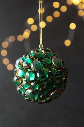 Large Emerald Green Jewel Bauble Hanging Decoration