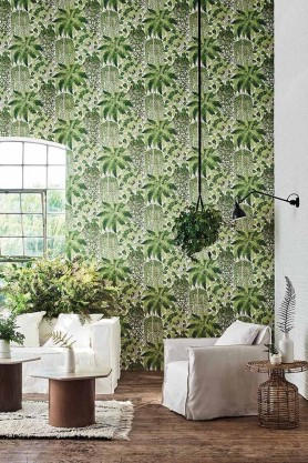 Lifestyle image of Fern Wallpaper by Cole & Son