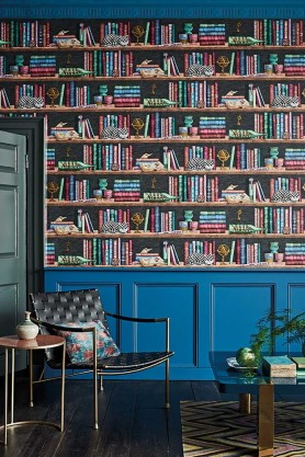 Lifestyle image of Libreria Wallpaper by Cole & Son