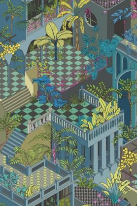 Cole & Son Geometric II - Miami Wallpaper - 2 Colours Available