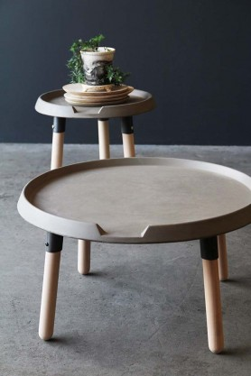 Lyon Beton Concrete & Wood Coffee Table
