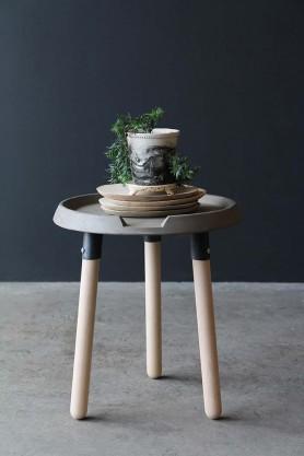 Lyon Beton Concrete & Wood Side Table