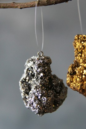 Image of the Silver Quartz Crystal Hanging Decoration