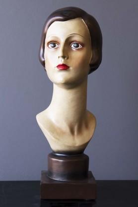 Deco Female Head/Bust Figurine