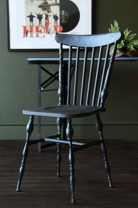 Distressed Metal Vintage Dining Chair