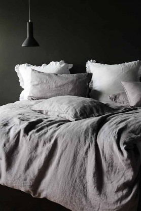 Lisbon Soft Linen Duvet Cover - Grey