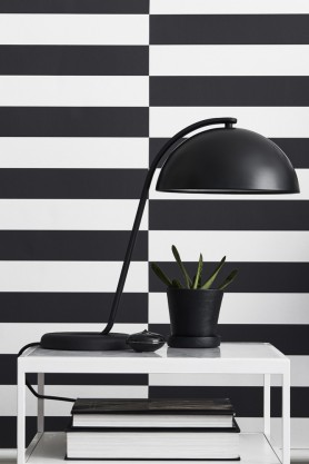 lifestyle image of Engblad & Co 3 Stripe Variations - 2 Colours Available with white desk and large black table lamp