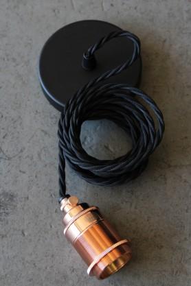 Vintage Copper & Black Pendant Set